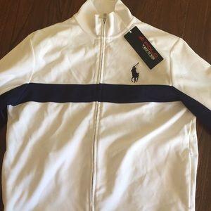 """Polo(Ralph Lauren) White """"US Open"""" Zip-up/Sweater"""